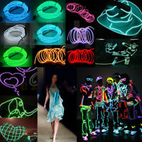 2M 3M 5M Flexible LED Neon Light Glow EL Strip Tube Wire Rope Battery Christmas