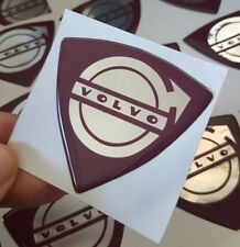 Volvo Domed Gel Wing Badge Stickers x2 For | T5 R DESIGN | Next Day Delivery!