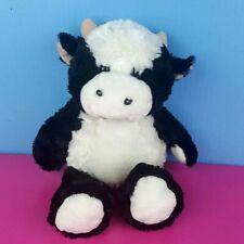 "Fiesta Plush Cow Black White Farm Animal Stuffed 12"" Soft Fluffy Floppy"