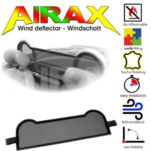 Wind Deflector for Audi Tt 8N Roadster, Black