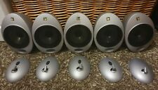 5x Silver Kef Egg  Satellite/surround Speakers