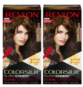 (Pack of 2) Revlon ColorSilk ButterCream 53 / 43G Medium Golden Brown