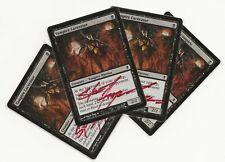 4 VAMPIRE LACERATOR SIGNED Zendikar Magic 3x ENG 1x ESP Steve Argyle MTG x4