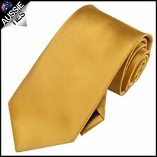 Mens Classic Gold Plain Necktie men's
