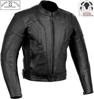KNIGHT RIDER STYLE SLIM FIT MENS CE ARMOUR MOTORBIKE / MOTORCYCLE LEATHER JACKET