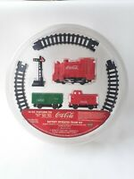 Vintage Coca Cola Battery Operated Train Set In Popcorn Tin Lid Sealed NEW
