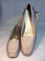 Enzo Angiolini Flats Loafers Shoes Womens 8.5 Pastel Pink Purple Leather Slip On