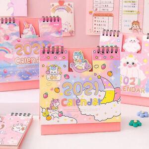 2021 Desktop Calendar Stand Up Monthly Home Planner Unicorn Office Dreamcatcher