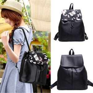 New Women Girl Leather Backpack Shoulder School Book Travel Handbag Leather Bags