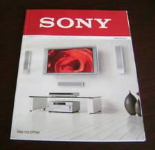 Catalogo Sony prodotti autunno inverno 2006 2007 depliant brochure tv home video