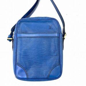 Louis Vuitton Epi Danube Crossbody Shoulder Bag Blue M45635 # DR258-176