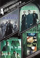 4 Film Favorite - The Matrix Collection (DVD, 2008 PART 1,2,3,4 )Keanu Reeves