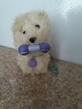 American Girl Doll Coconut White Westie Dog w. Collar, Tag, Leash & Bone