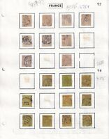 FRANCE 5 ALBUM-READY PAGES COLLECTION LOT $147 SCV 97, 78, 100++ SPECIALIST CXLS