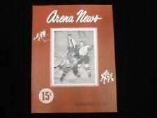 November 19, 1947 AHL Hockey Program Cleveland Barons @ Philadelphia Rockets NM
