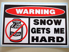 FUNNY SLED WARNING SNOWMOBILE SNOCROSS RACE TRAIL SNOW STICKER DECAL HARD 637