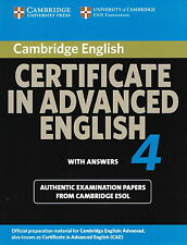 Cambridge CERTIFICATE IN ADVANCED ENGLISH 4 w Answers CAE ESOL Examination NEW