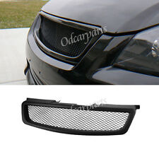 Fit:05-06 Nissan Altima Sedan JDM Blk Sport Badgeless Mesh ABS Front Hood Grille