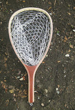 """New listing Wooden Landing net with rubber net (Hoop size:15""""x11"""")"""