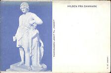 """Hilsen Fra DANMARK Litho-AK um 1900 Thorvaldsen Kunst """"Haabet"""" Motiv Büste"""