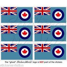 Canada Bandiera Canadese AVIAZIONE RCAF 40 mm mobile cellulare MINI Adesivo Decalcomania-x6