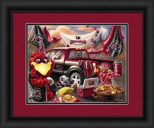 South Carolina Gamecocks Framed Tailgate Print - Poster Wood Wall Sign Man Cave