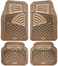 Auto Floor Mats for Mercedes Benz Car Truck SUV Van 4pc All Weather Rubber Beige