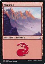 4 x Mountain (062/065) - Mind vs. Might - Magic the Gathering MTG Basic Land