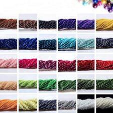 23 Colors 4mm/6mm/8mm/10mm Lightful Glass Pearl Round Spacer Beads-WI