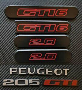 Peugeot 205 GTI6  Reproduction Rear & Side Badge Set Complete Set