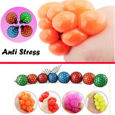 1PCS Anti Stress Face Reliever Grape Ball Autism Mood Squeeze Relief Toy