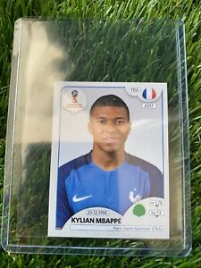KYLIAN MBAPPE ROOKIE PANINI 2018 WORLD CUP RUSSIA STICKER PINK BACK#197