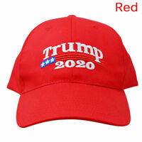 US Donald Trump 2020 Presidential Candidates Cap Embroidered Men Women Hat RED