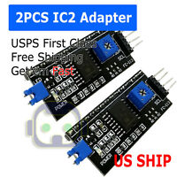 2Pcs I2C/IIC/TWI Serial Interface Board Module for Arduino LCD 1602 US SHIP N50