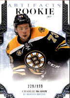2017-18 Artifacts #175 Charlie McAvoy RC /999 - NM-MT
