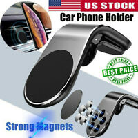 Car Magnet Magnetic Air Vent Stand Mount Holder Universal For Mobile Phone Silve