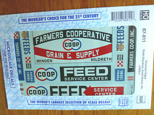 Microscale Decal HO  #87-811 Farming Signs #2 - Grain Elevators, Feed Stores