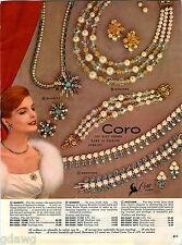 1960 ADVERT 4 PG Coro Costume Jewelry Biarritz Goddess Regency Love Song Crown