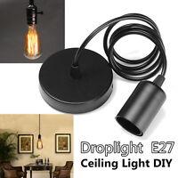 E27 Home Ceiling Rose Pendant Lamp Light Bulb Holder Socket Hanging Fixture 1.2m