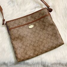 Coach Crossbody Signature Canvas Brown