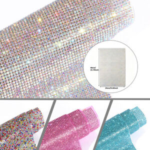 Crystal Bling Rhinestone Sticker Decal Sheet DIY Self-Adhesive Car Tablet Decor
