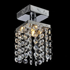 Modern Silver Chrome Crystal Ceiling Lights Pendant Chandelier Lamp Fixtures