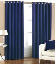 New Polyester 2 Piece Door Curtain Set - Blue, 4 x 7 ft