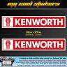 2 x Kenworth Trucks Logo 20cm Vinyl Sticker Decal, 4X4 Ute Car Truck Toolbox