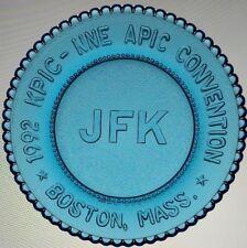 President John F Kennedy Glass Cup Plate JFK KPIC NNE APIC '92 Convention Boston