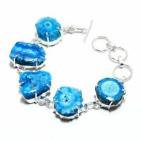 Solar Quartz Druzy Ethnic Jewelry Handmade Bracelet 33 Gms BB-1244