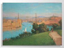 Huile sur toile de J. Berry paysage Marseille