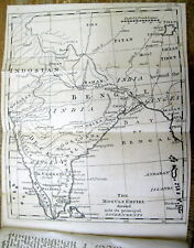 1767 newspaper / news magazine with blank back MAP of INDIA from 250+ years ago