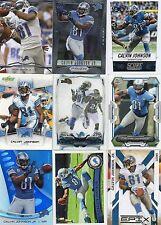 9-calvin johnson detroit lions card lot #6 nice mix