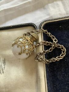 Old Victorian Glass Scent Bottle On Chain